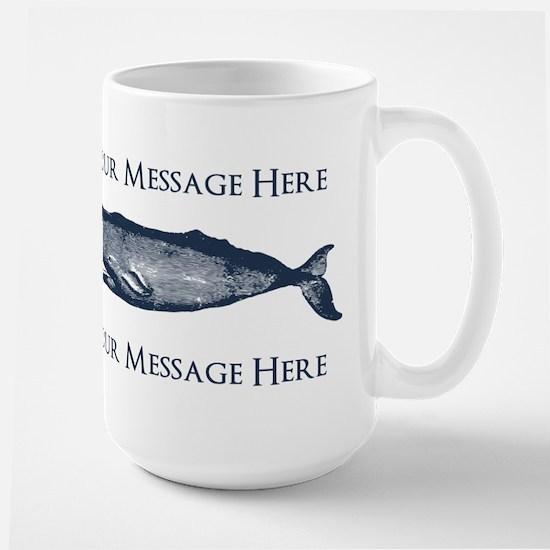 PERSONALIZED Vintage Whale Large Mug