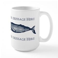PERSONALIZED Vintage Whale Mug