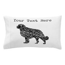 Distressed Newfoundland Silhouette (Custom) Pillow