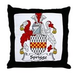 Sprigge Family Crest Throw Pillow