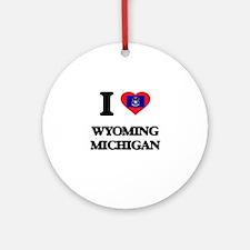 I love Wyoming Michigan Ornament (Round)