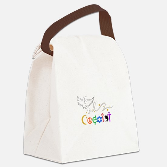 COEXIST DOVE Canvas Lunch Bag