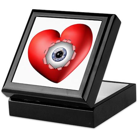 Surreal Heart Eyeball Keepsake Box