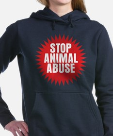 Stop Animal Abuse Women's Hooded Sweatshirt
