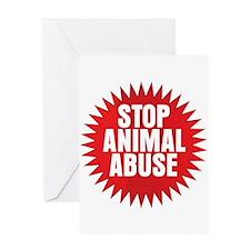 Stop Animal Abuse Greeting Card
