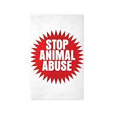 Stop Animal Abuse Area Rug