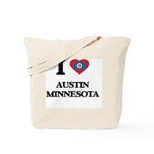 I love Austin Minnesota Tote Bag
