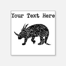Distressed Triceratops Silhouette (Custom) Sticker