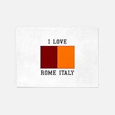 I Love Rome, Italy 5'x7'Area Rug