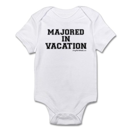 Majored In Vacation Infant Bodysuit