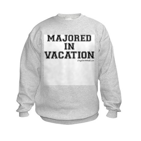 Majored In Vacation Kids Sweatshirt