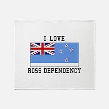 I Love Ross Dependency Throw Blanket