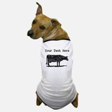 Distressed Cow Silhouette (Custom) Dog T-Shirt