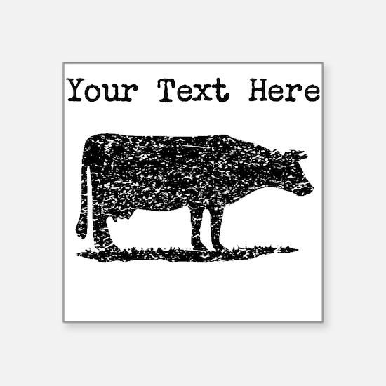 Distressed Cow Silhouette (Custom) Sticker