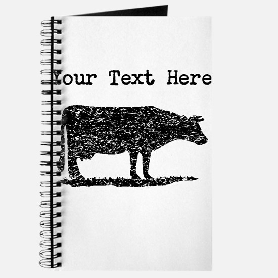 Distressed Cow Silhouette (Custom) Journal