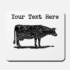 Distressed Cow Silhouette (Custom) Mousepad