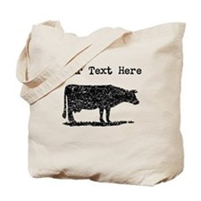 Distressed Cow Silhouette (Custom) Tote Bag
