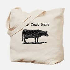 Distressed Cow Silhouette (Custom) Tote Bag