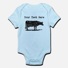 Distressed Cow Silhouette (Custom) Body Suit