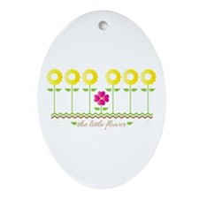 The Little Flower Ornament (Oval)