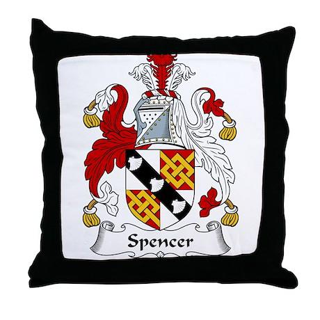 Spencer Family Crest Throw Pillow