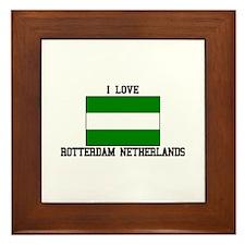 I Love Rotterdam, Netherlands Framed Tile