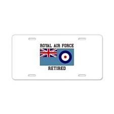 Royal Air Force Retired Aluminum License Plate