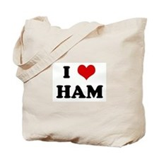 I Love HAM Tote Bag