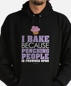 Punching People and Baking Hoodie (dark)