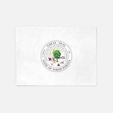 North Dakota State Seal 5'x7'Area Rug