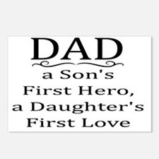 DAD, A SON'S FIRST HERO,  Postcards (Package of 8)