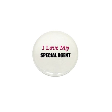 I Love My SPECIAL AGENT Mini Button (10 pack)