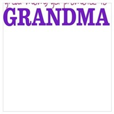 Great Moms get promoted to GRANDMA Canvas Art
