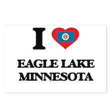 I love Eagle Lake Minneso Postcards (Package of 8)
