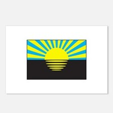 Donetsk, Ukraine Flag Postcards (Package of 8)