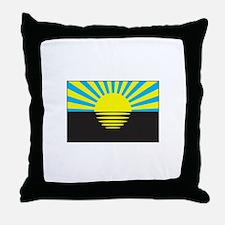 Donetsk, Ukraine Flag Throw Pillow