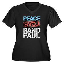 Peace Love Rand Paul Plus Size T-Shirt