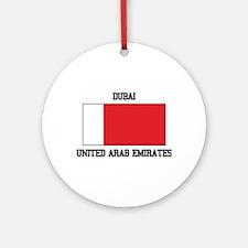 Dubai UAE Ornament (Round)