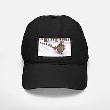 Boston Common Ducks at Christmas Baseball Hat