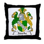 Sparke Family Crest Throw Pillow