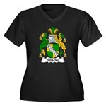 Sparke Family Crest Women's Plus Size V-Neck Dark
