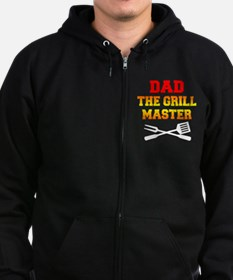 Dad The Grill Master Zip Hoodie