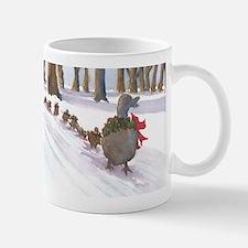 Boston Common Ducks at Christmas Mugs