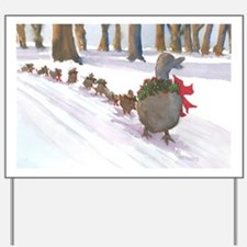 Boston Common Ducks at Christmas Yard Sign