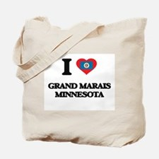 I love Grand Marais Minnesota Tote Bag