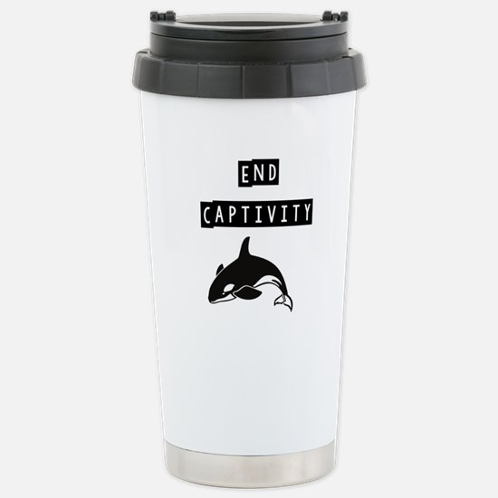 Cute Stop animal abuse Travel Mug