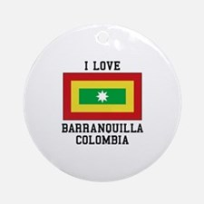 I Love Colombia Ornament (Round)