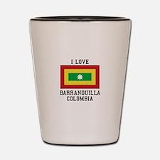 I Love Colombia Shot Glass