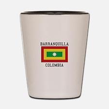 Barranquilla Colombia Shot Glass