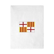 Barcelona, Spain Flag Twin Duvet